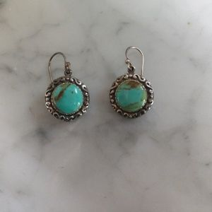 Jewelry - Southwest style- turquoise sterling drop earrings
